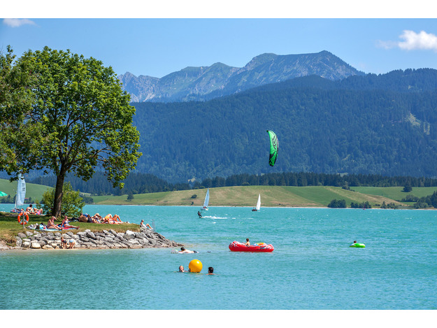 Panoramablick am Forggensee